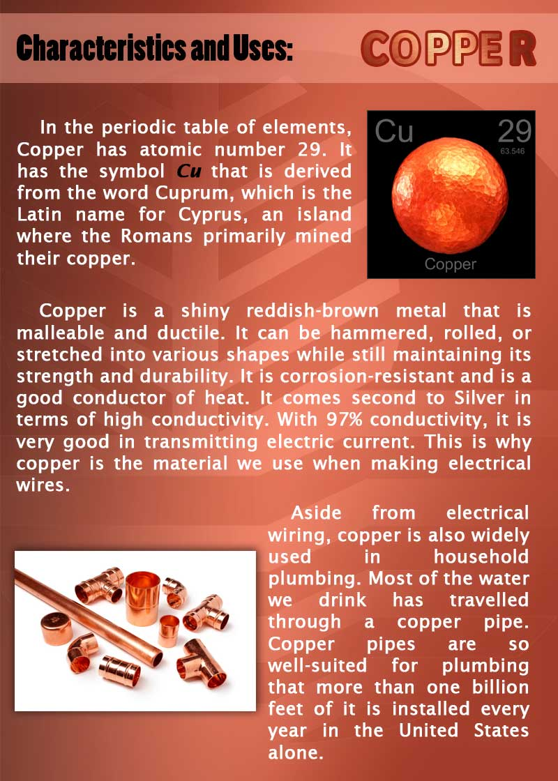 Copper Characteristics and Uses page 2 web